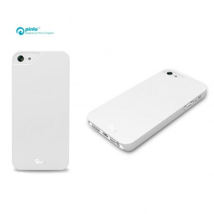 Pinlo Rubber Slice - поликарбонатов кейс за iPhone 5 (бял) 3