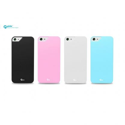 Pinlo Rubber Slice - поликарбонатов кейс за iPhone 5 (бял) 4
