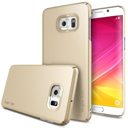 Ringke Slim Case - поликарбонатов кейс за Galaxy S6 Edge Plus (златист)