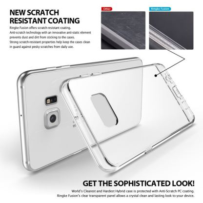 Ringke Noble Shine Case - кейс с кристали за Samsung Galaxy S6 Edge (прозрачен) 4