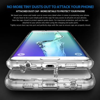 Ringke Noble Shine Case - кейс с кристали за Samsung Galaxy S6 Edge (прозрачен) 2
