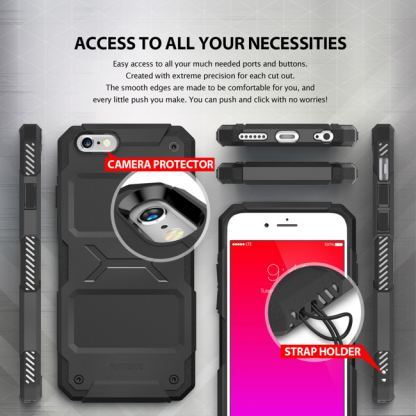 Ringke Armor Rebel - удароустойчив кейс за iPhone 6/6S Plus (черен) 5
