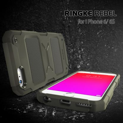 Ringke Armor Rebel - удароустойчив кейс за iPhone 6/6S Plus (черен) 6