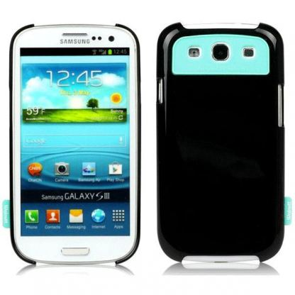 Zenus Walnutt Milk Bar Cover - хибриден кейс за Samsung Galaxy S3 i9300 (черен)