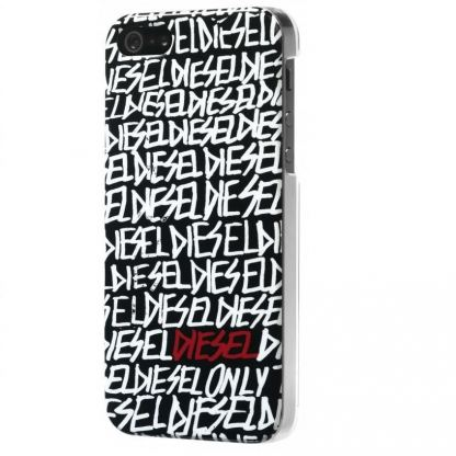 Diesel Snap Case Text - дизайнерски кейс за iPhone 5 (черен-бял) 2