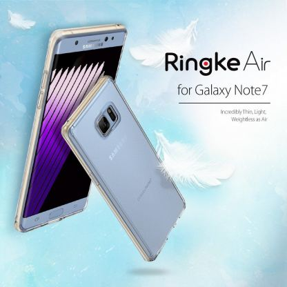 Ringke AIR Case - силиконов кейс за Samsung Galaxy Note 7 (прозрачен) 3