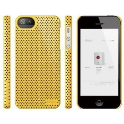Elago S5 Breathe + HD Clear film - кейс (жълт) и HD покритие за iPhone 5 3