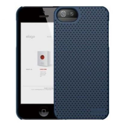 Elago S5 Breathe + HD Clear film - кейс (син) и HD покритие за iPhone 5 2