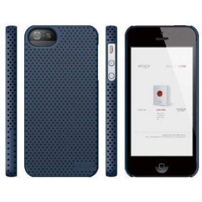 Elago S5 Breathe + HD Clear film - кейс (син) и HD покритие за iPhone 5 3