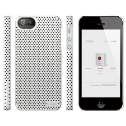 Elago S5 Breathe + HD Clear film - кейс (бял) и HD покритие за iPhone 5 2