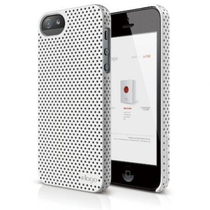 Elago S5 Breathe + HD Clear film - кейс (бял) и HD покритие за iPhone 5