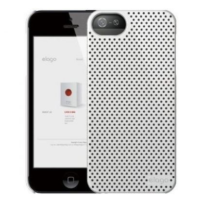 Elago S5 Breathe + HD Clear film - кейс (бял) и HD покритие за iPhone 5 3