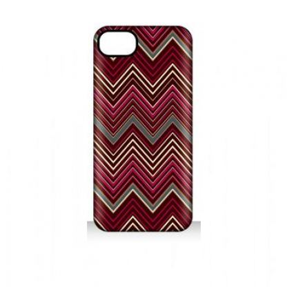 Griffin Chevron - дизайнерски поликарбонатов кейс за iPhone 5 (червен)