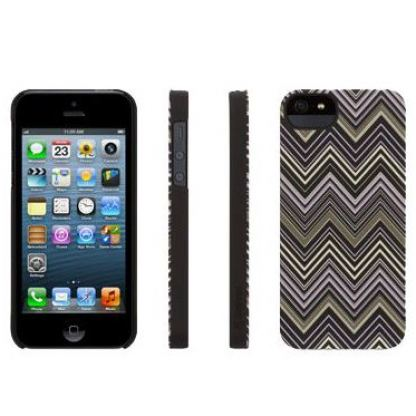 Griffin Chevron - дизайнерски поликарбонатов кейс за iPhone 5 (черен) 2