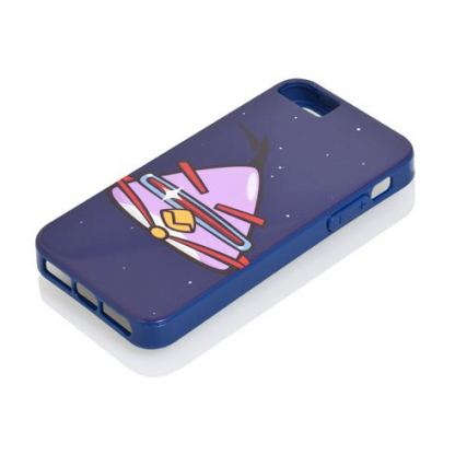 Gear4 Angry Birds Space Laze - поликарбонатов кейс за iPhone 5 (син) 2