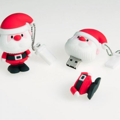 USB Tribe Santa Claus High Speed USB 2.0 Flash Drive 4GB - флаш памет 4GB