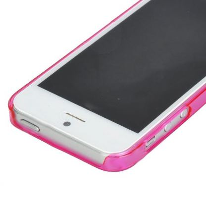 Ultra-Thin ABS Bumper - поликарбонатов бъмпер за iPhone 5 (розов-прозрачен) 2