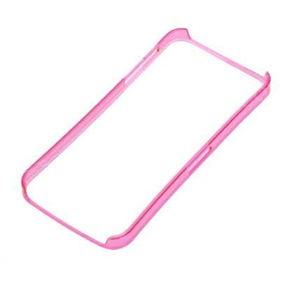 Ultra-Thin ABS Bumper - поликарбонатов бъмпер за iPhone 5 (розов-прозрачен) 4