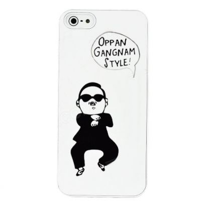 Gangnam Style Case - поликарбонатов кейс за iPhone 5 (бял) 2