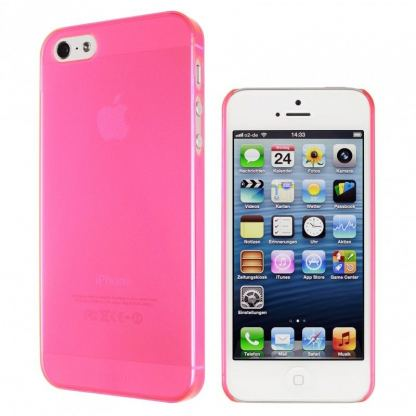 Artwizz SeeJacket® Clip Neon - поликарбонатов кейс за iPhone 5 (розов-прозрачен) 3