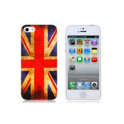 Retro Style Faceplate UK - поликарбонатов кейс за iPhone 5