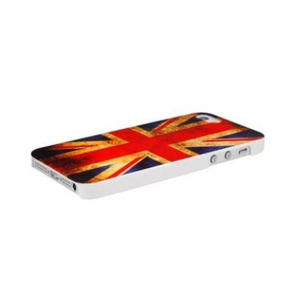 Retro Style Faceplate UK - поликарбонатов кейс за iPhone 5 2