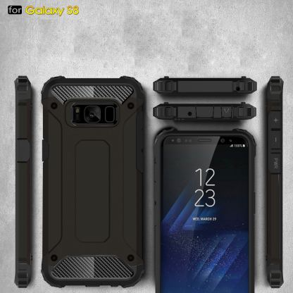 Forcell Tough Armor - удароустойчив кейс за Samsung Galaxy Note 8 (черен) 4