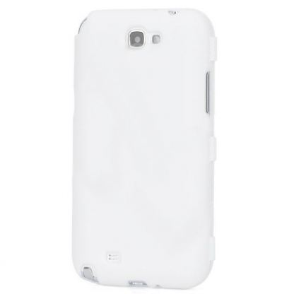 Flip Cover Case - хибриден кейс за Samsung Galaxy Note 2 N7100 (бял)