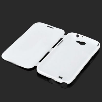Flip Cover Case - хибриден кейс за Samsung Galaxy Note 2 N7100 (бял) 3