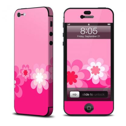 Decalgirl Retro Pink Flowers - скин за iPhone 5 (обхваща и антената)