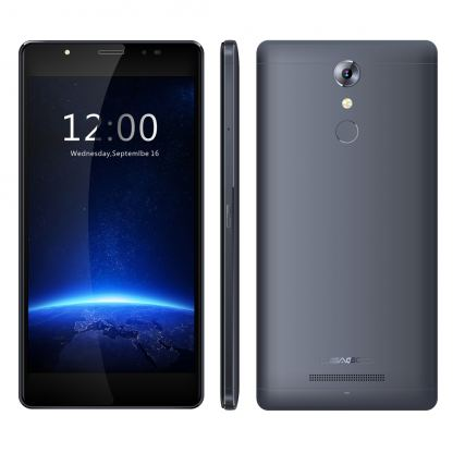 LEAGOO T1 Plus, 5.5 инча HD, 3GB RAM, 4-ядрен смартфон с 2 сим карти, Android 7, Цена (тъносив)