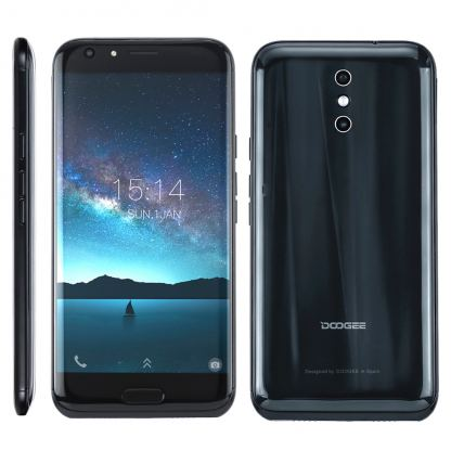 DooGee BL5000, 5.5 инча Full HD, 4GB RAM + 64GB памет, 8-ядрен, 5050 mAh батерия, 13MP Dual Камера, Dual Sim, Цена (черен)