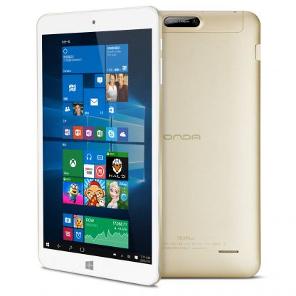 "Таблет Onda V80 Plus 8"" ,Windows 10, Intel Quad Core процесор (gold)"