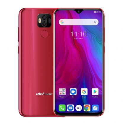 Ulefone Power 6, FHD+ 6.3 инча , 4GB+64GB памет, 8-ядрен, 6350 mAh батерия, Dual Sim, Android 9, Цена (червен) 4