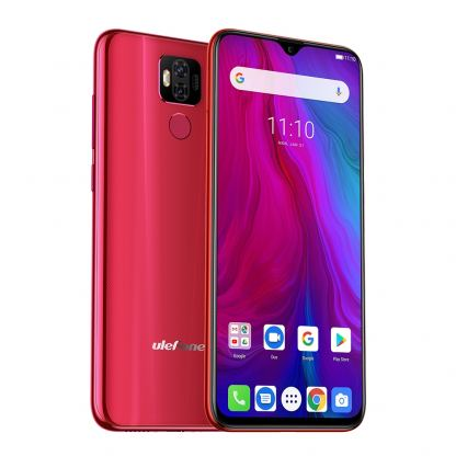 Ulefone Power 6, FHD+ 6.3 инча , 4GB+64GB памет, 8-ядрен, 6350 mAh батерия, Dual Sim, Android 9, Цена (червен)