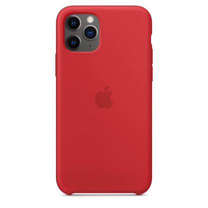Apple Silicone Case КЛАС 1 - силиконов кейс за iPhone 11 Pro Max (червен) 2
