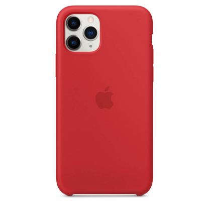 Apple Silicone Case КЛАС 1 - силиконов кейс за iPhone 11 Pro Max (червен) 3