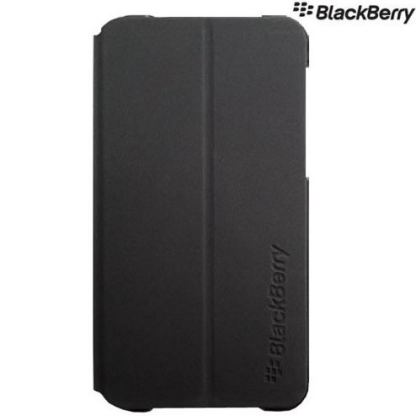Blackberry Flip Shell - флип кожен кейс за Blackberry Z10 (черен)