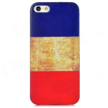 Retro Style French Flag - поликарбонатов кейс за iPhone 5 3
