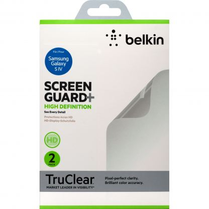 Belkin ScreenGuard HD - защитно покритие за Samsung Galaxy S4 (два броя) 2