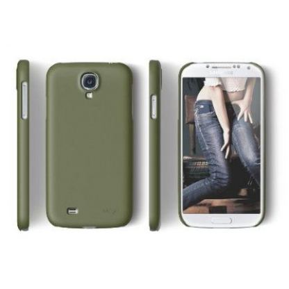 Elago G7 Slim Fit Case + HD Clear film - кейс и покритие за Samsung Galaxy S4 i9500 (зелен-мат) 2