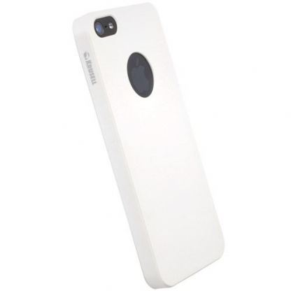 Krusell ColorCover Apple Cut - поликарбонатов кейс за iPhone 5 (бял)