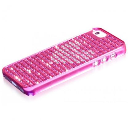 Bling My Thing Heart Extravaganza - кейс с кристали Сваровски за iPhone 5 (розов) 3