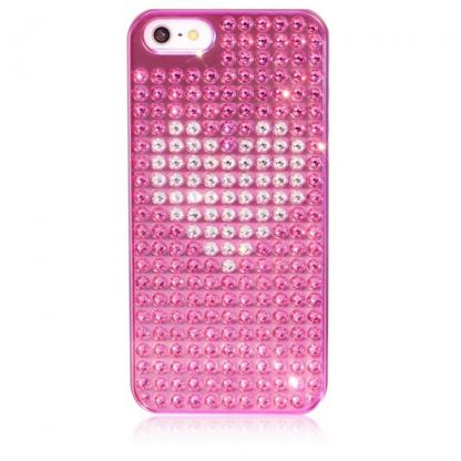 Bling My Thing Heart Extravaganza - кейс с кристали Сваровски за iPhone 5 (розов)