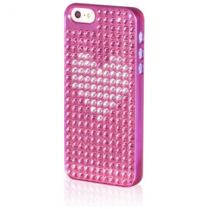 Bling My Thing Heart Extravaganza - кейс с кристали Сваровски за iPhone 5 (розов) 2