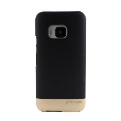 Prodigee Accent Case - поликарбонатов слайдер кейс за HTC One 3 M9 (черен-златист) 2
