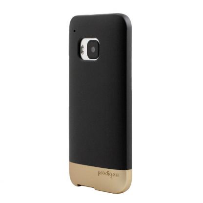 Prodigee Accent Case - поликарбонатов слайдер кейс за HTC One 3 M9 (черен-златист) 3