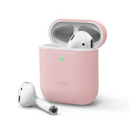 Elago Airpods Skinny Silicone Case - тънък силиконов калъф за Apple Airpods и Apple Airpods 2 with Wireless Charging Case (розов)
