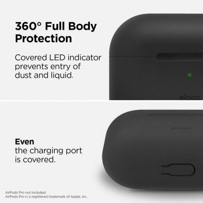 Elago Airpods Slim Basic Silicone Case - тънък силиконов калъф за Apple Airpods Pro (черен) 4