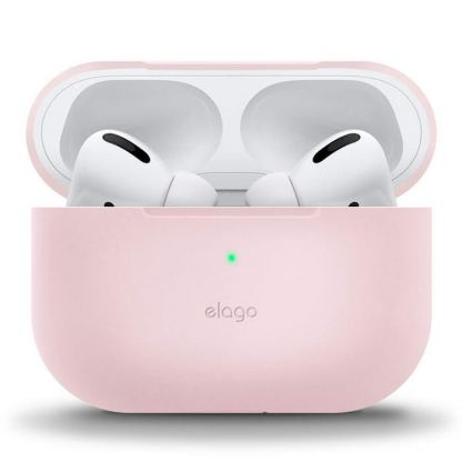 Elago Airpods Slim Basic Silicone Case - тънък силиконов калъф за Apple Airpods Pro (розов)